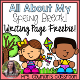 All About My Spring Break: Writing Page Freebie