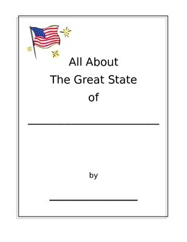All About My State Project Booklet Printable