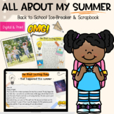 All About My Summer - A Back To School Ice Breaker Activit