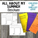 All About My Summer: A Trifold Brochure for Back to School