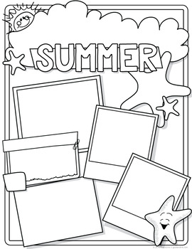 All About My Summer – Back to School Activity