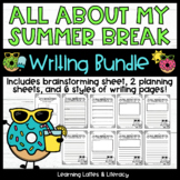 All About My Summer Break Writing Activity Back to School