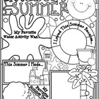 All About My Summer Poster: A Back to School Ice Breaker Activity