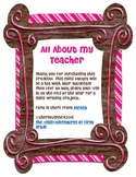 All About My Teacher End of Year Writing Activity