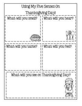 Thanksgiving Booklet ~ All About My Thanksgiving