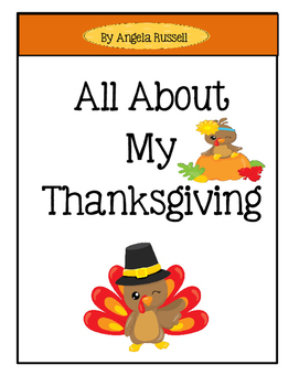 Thanksgiving Booklet - All About My Thanksgiving
