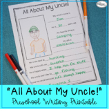 All About My Uncle! Printable