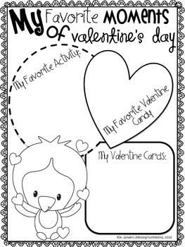 All About My Valentine's Day: A Booklet {Just Print & Staple!}