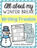 All About My Winter Break Writing Freebie