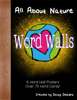 All About Nature Word Walls - Animals, Plants, Insects