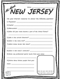 All About New Jersey- Fifty States Project Based Learning Worksheet