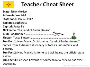 All About New Mexico | US States | Activities & Worksheets