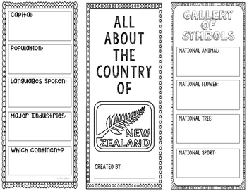New Zealand - Research Project - Interactive Notebook - Government - Mini Book
