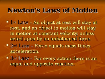 All About Newton's Laws Presentation