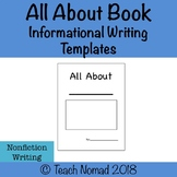 All About Nonfiction/Informational Writing Book templates