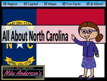 All About North Carolina | US States | Activities & Worksheets