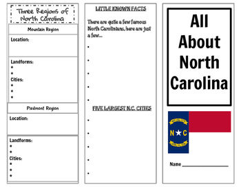All About North Carolina pamphlet