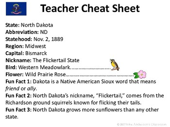 All About North Dakota | US States | Activities & Worksheets