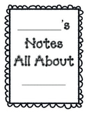 All About: Notes Packet for Biography Report