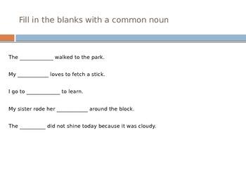 All About Nouns Common, Proper, Possessive, Singular, Plural Nouns and Pronouns