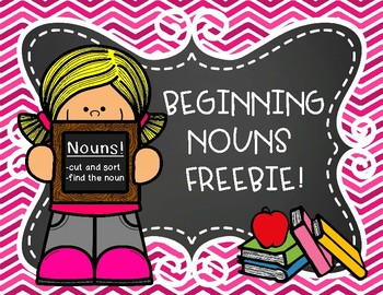 All About Nouns Cut and Sort Freebie