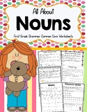 All About Nouns First Grade Grammar Common Core