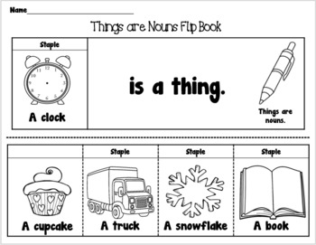 All About Nouns Flip Books and Activities