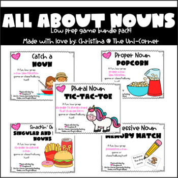 All About Nouns Game Pack