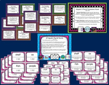 """""""All About Nouns"""" Task Cards Bundle"""
