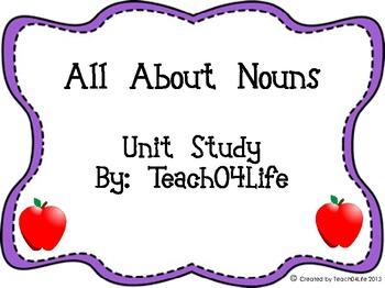 All About Nouns Unit Study