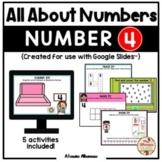 All About Number 4 (Google Slides™)