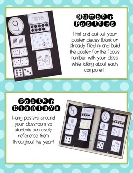 All About Numbers 0-20 Posters and Practice