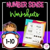 Number Sense Worksheets (1-10)
