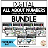 All About Numbers 1-10 BUNDLE (Google Slides™)