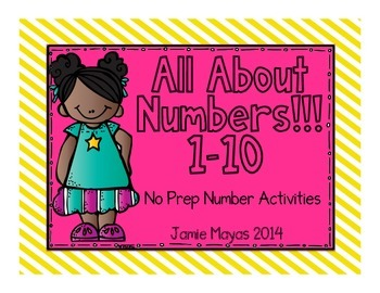 All About Numbers 1-10 NO PREP Activities