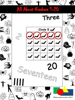 All About Numbers 1-20 (Halloween)