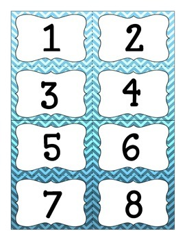 Number Cards 1-20  with Ten Frames {Pocket Charts Math Wall and Centers}