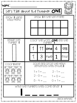 All About Numbers! 1-30