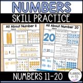 Number Representations from 11 to 20