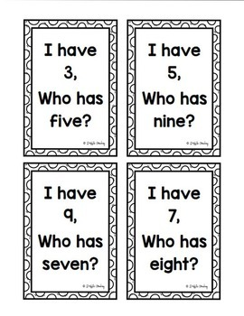 All About Numbers: A Growing BUNDLE {I Have-Who Has, Number Words, Dominoes}