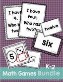 Number Math Games BUNDLE {I Have-Who Has, Number Words, Missing Addend}