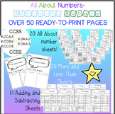 All About Numbers - Activity BUNDLE - over 50 ready to pri