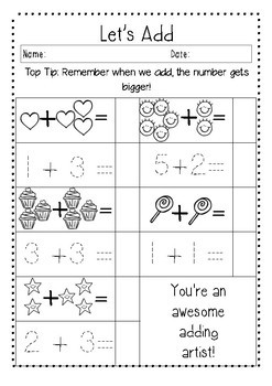 All About Numbers - Adding and Subtracting - Ready to print pages