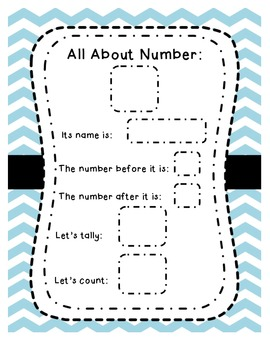 All About Numbers Chart