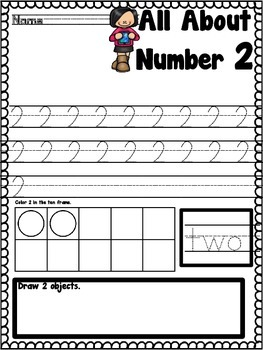 All About Numbers Print And Go Number Practice