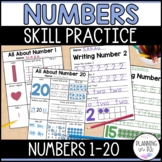 All About Numbers and Number Writing Practice 1-20 Bundle