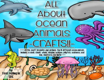 All About Ocean Animals Crafts Templates Pics For 10 Different