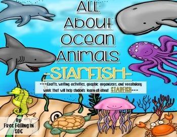 All About Ocean Animals-STARFISH! (craft, writing activiti