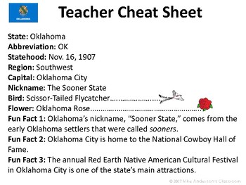 All About Oklahoma | US States | Activities & Worksheets
