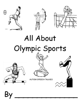 All About Olympic Sports Workbook (Speech, Vocabulary, Autism)